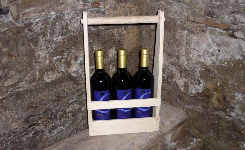 Weinhalterfür drei Flaschen
